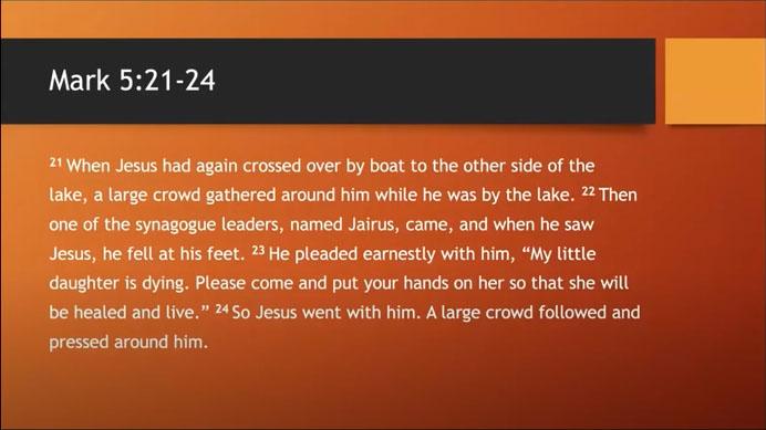Bible Study July 1, 2020