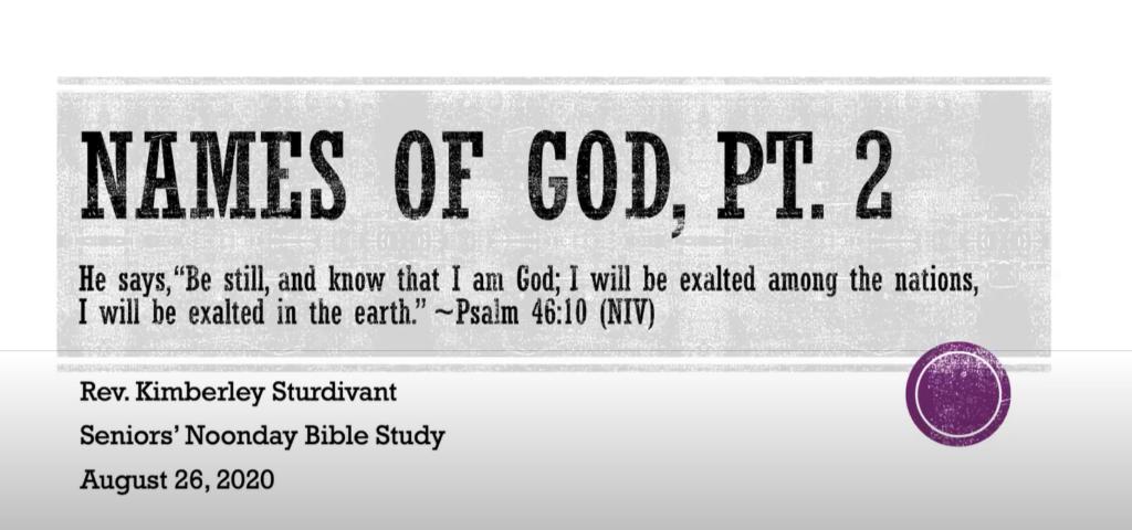 Names of God Part II