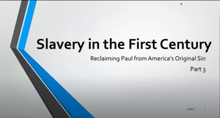 Slavery in the First century part III - Seniors Copy